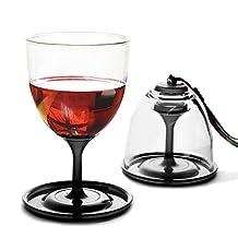 Asobu StackNGo Unbreakable Wine Glasses,Black, Set of 2