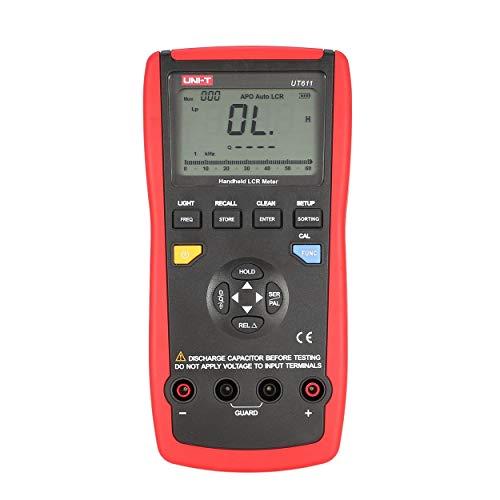 FOR UNI-T UT611 Handheld LCR Digital Bridge Table Inductance/Capacitance / Resistance Tester Data Storage LCD Backlight -