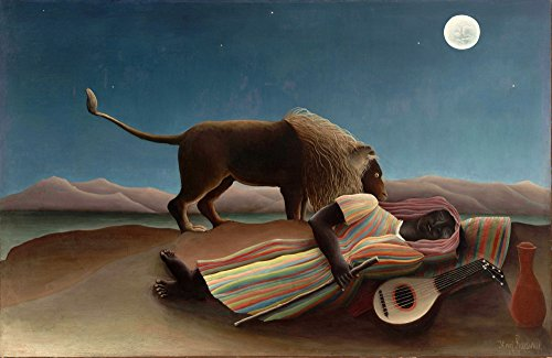 - The Sleeping Gypsy 1897 Poster Print by Henri Rousseau (18 x 24)