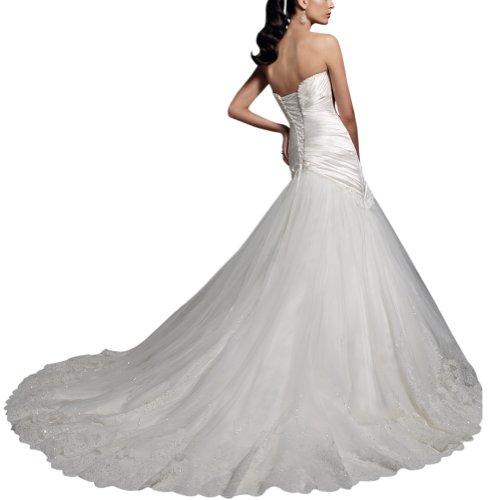 Hochzeitskleider Schatz Princeless GEORGE Elfenbein Brautkleider Linie BRIDE A Taft 0STT1qF