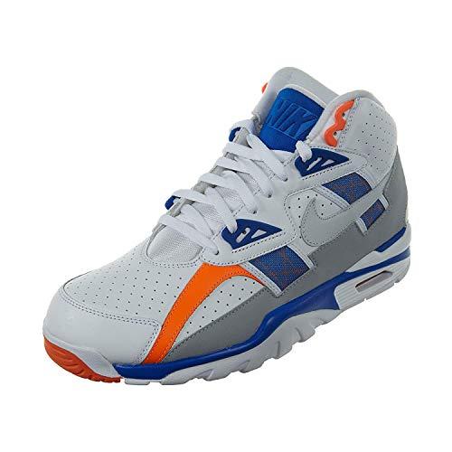 Nike Mens Air Trainer SC High Shoes White/Pure Platinum/Hyper Cobalt 302346-122 Size 10 (Nike Sc Trainer High)