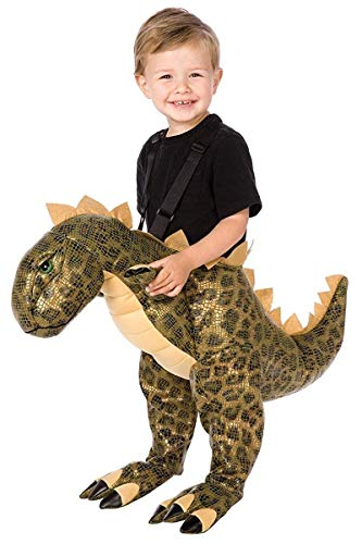(Plush T-Rex Child Costume, One Size (Fits Sizes 4-8), Brown by Official)