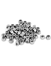 uxcell M3 x 0.5mm Stainless Steel Nylock Nylon Insert Hex Lock Nuts 50pcs