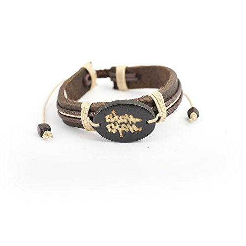 JewelryVolt Adjustable Genuine Leather Bracelet - Chinese Character Double Happiness - Double Happiness Jewelry