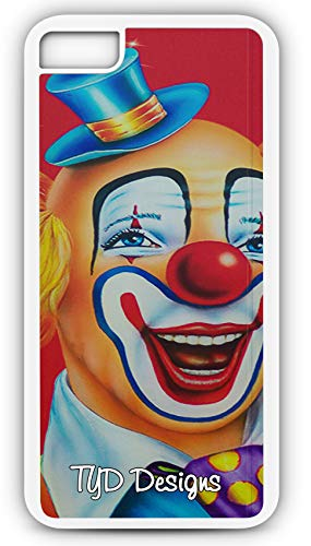 (iPhone 8 Case Clown Happy Make Up Circus Birthday Party Customizable TYD Designs in White)