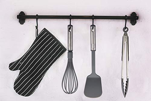 Kitchen Utensil Set – 23 Nylon and Stainless Steel Cooking Utensils - Kitchen Gadgets - Kitchen Utensil Spatula Set - Non Stick, Durable, Heat Resistant & Dishwasher Safe Cooking Tool Set - Grey
