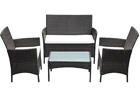 Amazon.com: K & Una Empresa ratán de mimbre conjunto de sofá ...