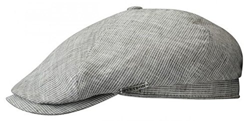 Stetson Brooklyn - light grey linen flat cap (XL)  Amazon.co.uk ... 4646ba3e02e