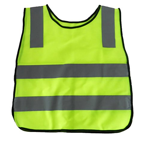 High Visibility Children Outdoors Reflective Safety Vest for Running Cycling Walking Skating Skiing Skateboard Reflective Belt Vest for Kindergarten Pupils Junior Student (Fluorescent Yellow,S) - Junior Safety Vest