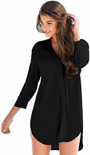a2485d1f8da9 ... Feminine Fashion Shirt Sexy Long Sleeve Straight Office Dresses.  seller: SunWard. (2). Sunward(TM) Women Casual Solid Comfort Sleeve V-Neck  Dress