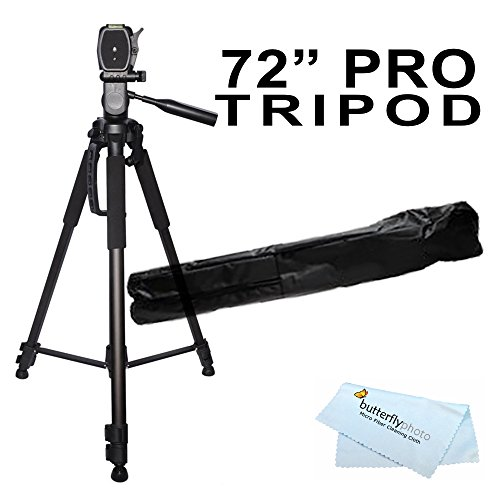 72 inch Tripod w/Case For The Nikon Df, D7200, D5300, D3300, D5200, D3200, D3X, D3S, D700, D300S, D7000 D90 D5100 D800 D800E D810 D600 D610, D7100, D750 DSLR and Blackmagic Pocket Cinema Camera + More (Best Tripod For D7000)