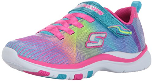 Skechers Kids Girls' Trainer Lite-Dash N'Dazzle Sneaker,Multi, 1 M US Little Kid (Trainers Girls Childrens)