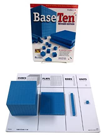 ETA hand2mind Blue Plastic Base Ten Blocks, Place Value Set