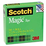Scotch® Magic™ Office Tape with 1'' Core TAPE,MAGIC 1/2X1296 (Pack of50)