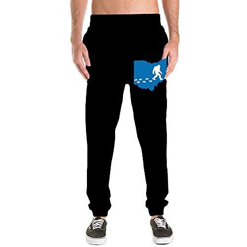 Ohio Drawstring Sweatpants - Ohio State Bigfoot Men's Basic Cotton Sweatpants Jogger Pants Fitted Bottom Elastic Waist