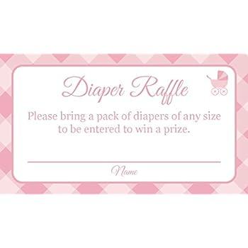 Amazon Diaper Raffle Tickets Girl Baby Shower Invitation