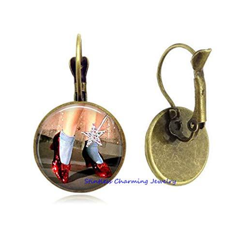 Ruby Slippers Stud Earrings, oz Jewelry, oz Earrings, Ruby Slippers Earrings,Fashion Stud Earrings-JP208 (C2) ()