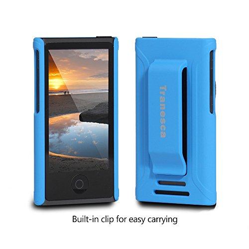 iPod Nano 7 case- Tranesca Ultra Slim Protective Case for iPod Nano 7&8th Generation with Premium Tempered Glass screen Protector. (Royal Blue)