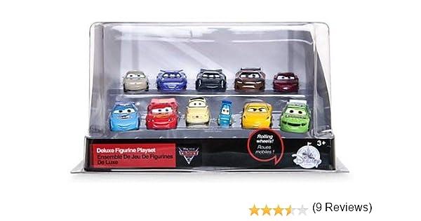 Set de juego exclusivo de figuritas de Disney Pixar Cars 3, 11 elaboradas figuritas de Cars, Figuras de Rayo McQueen, Guido, Luigi, Cruz, Ramírez, Jackson Storm, Sterling Silver y muchos más: Amazon.es: