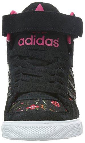adidas Extaball up, Women's High-Top Trainers Black - Schwarz (Core Black/Core Black/Vivid Berry S14)