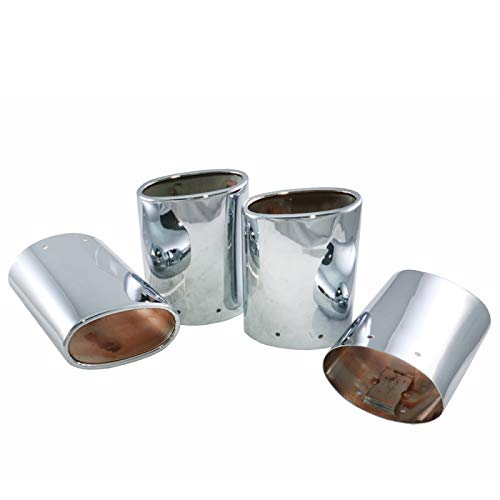 Eckler's Premier Quality Products 25-108470 - Corvette Exhaust Extensions Chrome Plated Stainless Steel With Dual Tips ()