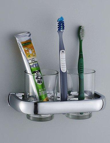 eik Porta cepillo de dientes/Gadget para el baño, moderno cromo montaje a pared