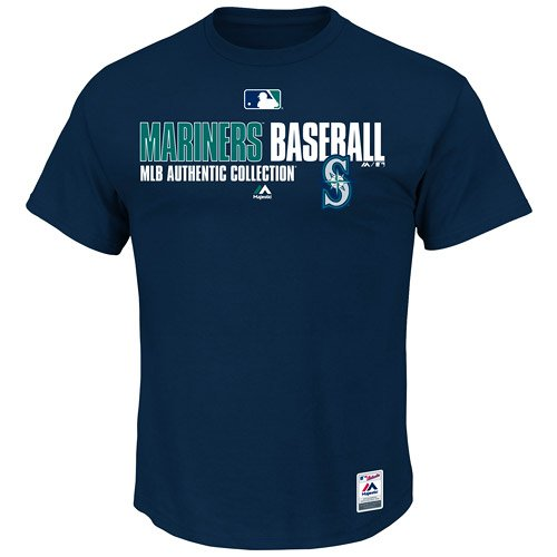 Seattle Mariners MLB Men's New Authentic Collection Team Favorite T-shirt - Navy (Navy Authentic Collection)