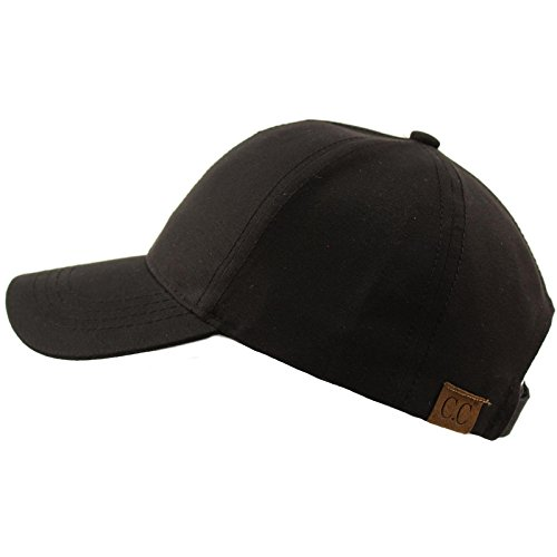 CC Everyday Unisex Light Plain Blank Baseball Sun Visor Solid Cap Dad Hat Black -