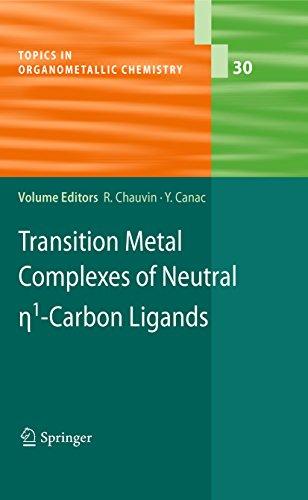 Transition Metal Complexes of Neutral eta1-Carbon Ligands: 30 (Topics in Organometallic Chemistry) Pdf