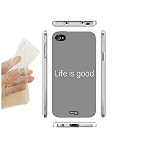 FUNDA CARCASA SLIM LIFE IS GOOD PARA IPHONE 4 4S TPU