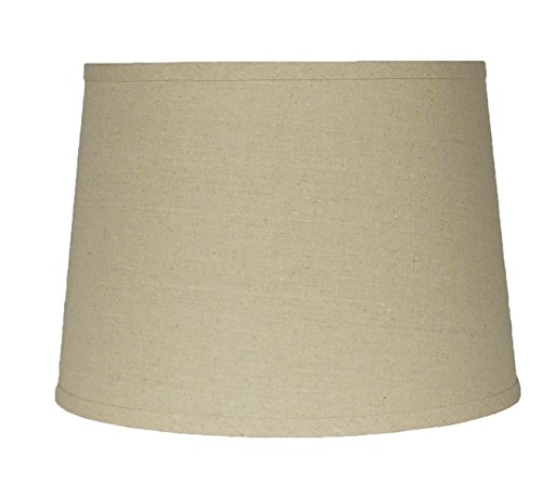 Lampshade,Textured Flax Linen, 12-inch, Spider, Natural (Natural Lamp Shades)