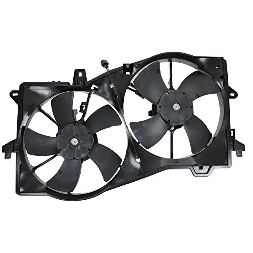 (Dual Radiator Cooling Fan Motor Shroud AJ5115025B for 02-06 Mazda MPV MP-V Van)