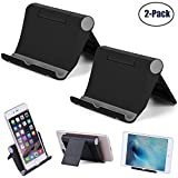 Cell Phone Stand Multi-Angle,【2 Pack】 Tablet Stand Universal Smartphones for Holder Tablets(6-11'), e-Reader, Compatible iPhone X/8/8 Plus/7/7 Plus, Galaxy S8/S7/Note 8, Air, Mini, Pixel 2(Black)