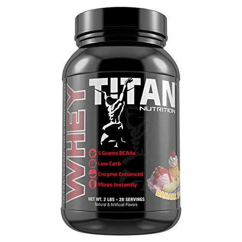 Cheap Titan Premium Whey Protein (Banana Split, 2 lb)