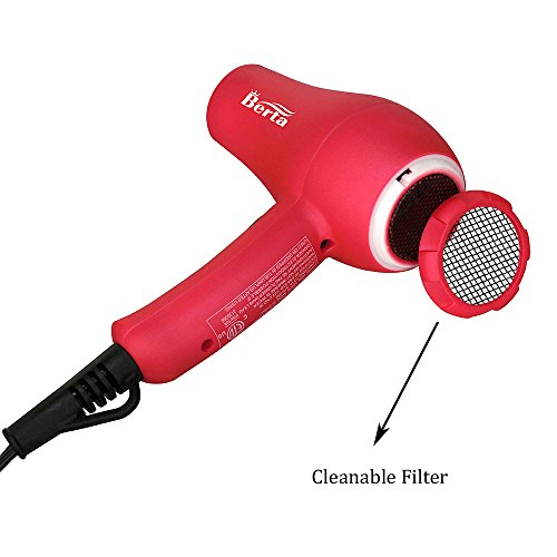Travel Mini Hair Dryer Ceramic Ionic 1000 Watts Blow Dryer Lightweight 2 Speed Settings with a Concentrator, Pink Color (Pink)