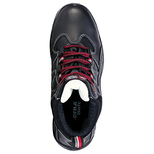 Cofra 19180-003 - Zapatos de seguridad de alto tipo de relación s3 src nueva trotar, tamaño 47, negro,