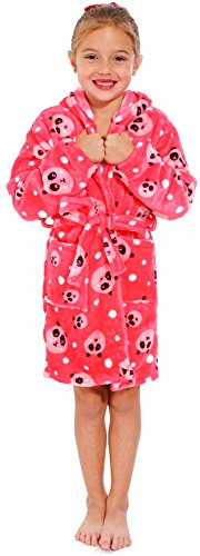 Simplicity Kid's Microfiber Ultra Lightweight Bath Robe, Panda Design, S