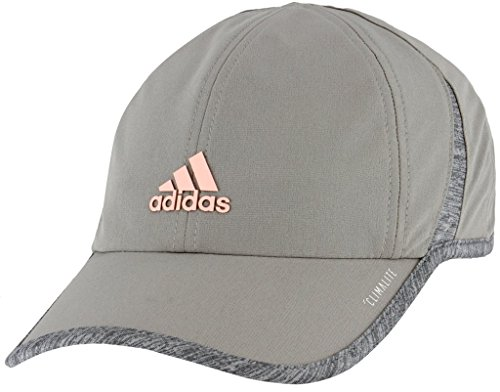 (adidas Women's Superlite Relaxed Adjustable Performance Cap, Light Onix/Light Grey Heather/Clear Orange, One Size)