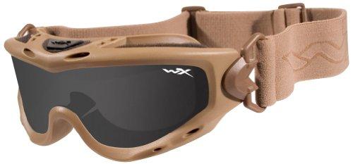 Wiley X Spear Lunettes de protection en kit avec 2 paires de verres gris fumé et transparent Beige - Marron