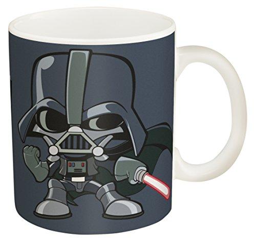 Zak! Designs Ceramic Coffee Mug with Illustrated Darth Vader Graphics, 11.5 oz. ()