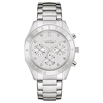 Caravelle New York Damen-Armbanduhr Chronograph Quarz Edelstahl 43L190