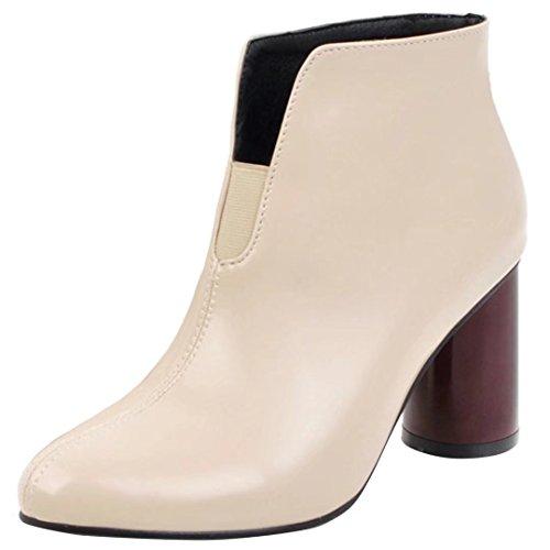 AIYOUMEI Women's Classic Boot Beige TFAzYsHk