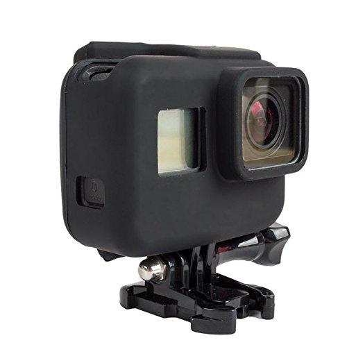 ソフトシリコンカバー保護シェルハウジングケースfor GoPro Hero 5 hero5ブラックエディションカメラ  ブラック B07596GCV5