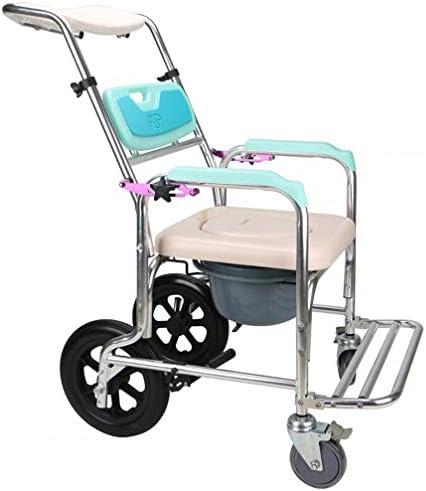 Bbhhyy Toilettenstuhl Alter Mann Mit Rädern WC-Sitz Aufzug Armlehne WC-Sitz for Behinderte Rollstuhl-Pflegestuhl
