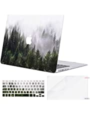 MOSISO MacBook Air 13 inch Case (A1369 & A1466, Older Version 2010-2017 Release), Plastic Pattern Hard Case&Keyboard Cover&Screen Protector Only Compatible with MacBook Air 13, Green Forest