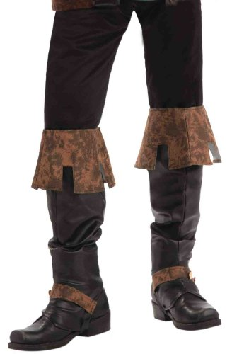 Forum Novelties Men's Renaissance Boot Tops Costume Accessory, Brown, One Size for $<!--$9.99-->