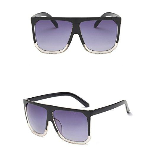 Itemap Fashion Women Cat Eye Square Sunglasses Designer Retro Big Frame Eyeglass Shades (Black - Oakley Transparent Sunglasses