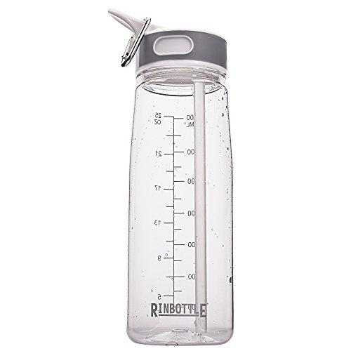Water Bottle Sports Water Bottle with Straw Reusable Water Bottle with Handle Travel Sports bottle for Running Water bottle for Hiking Gym Plastic Water Bottle 800ML