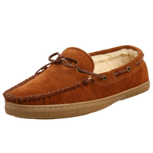 Tamarac by Slippers International 1916 Men's Suede Moccasin Slipper,...