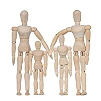 alikeke 4Pack Family Portrait Family of Four (Daddy Mommy Sister Brother)
